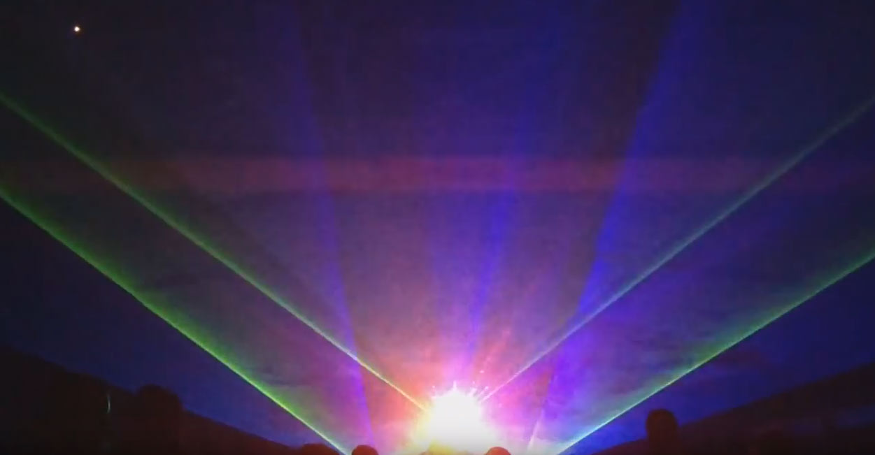 Winter Christmas laser light show in Rota Spain at US Naval Station, Part 3